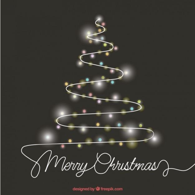 Rbol de navidad abstracto hecho con luces descargar - Luces arbol de navidad ...