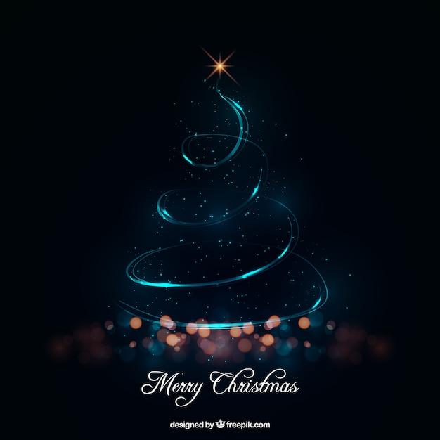 Rbol de navidad abstracto hecho de luces descargar - Arbol de navidad hecho de luces ...
