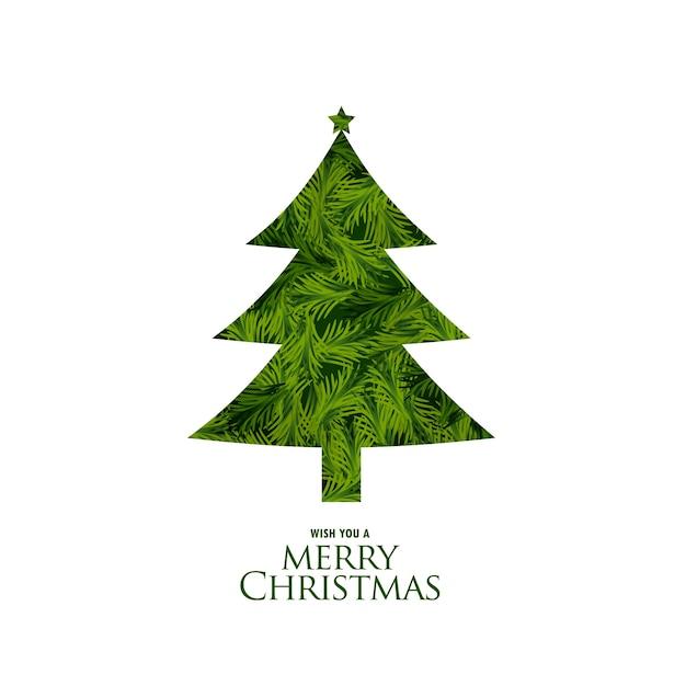Árbol de navidad aislado hecho con hojas de abeto | Descargar ...