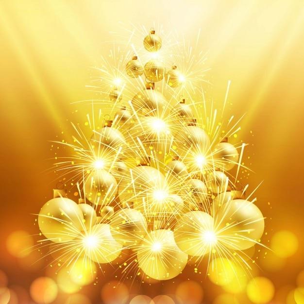 Rbol de navidad brillante hecho con bolas de navidad - Arbol de navidad de bolas ...