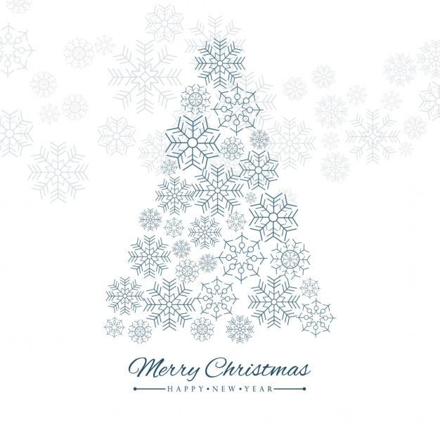 Rbol de navidad con copos de nieve descargar vectores - Arbol navidad nieve ...