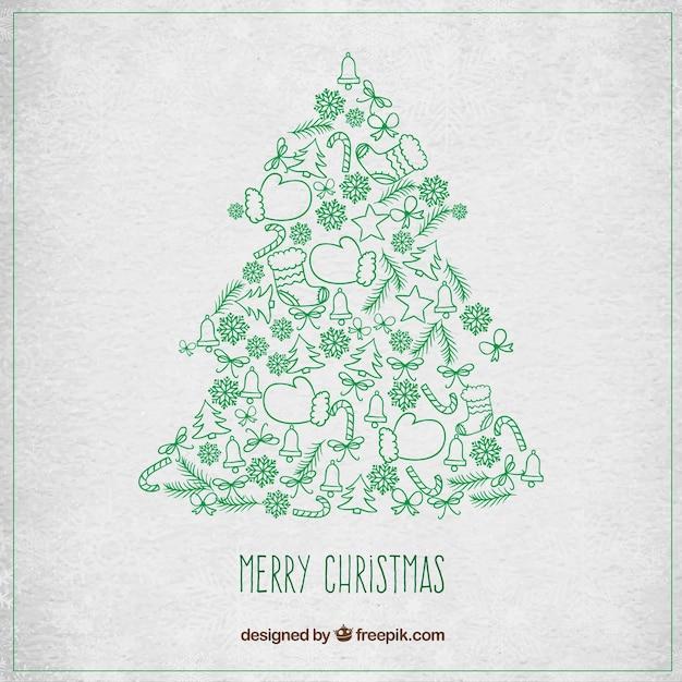 Rbol de navidad con detalles verdes descargar vectores for Arbol navidad verde