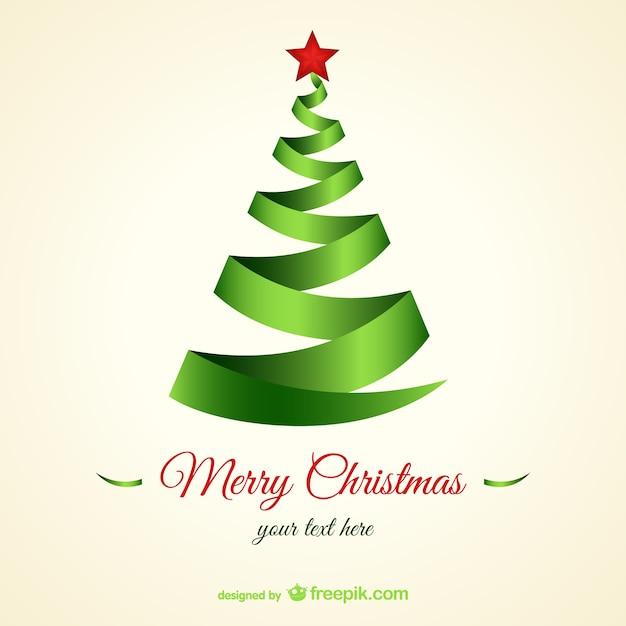 Rbol de navidad con forma de cinta descargar vectores - Tutorial arbol de navidad ...