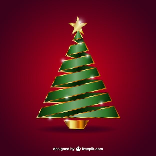 Rbol de navidad con la estrella dorada descargar - Arboles de navidad dorados ...