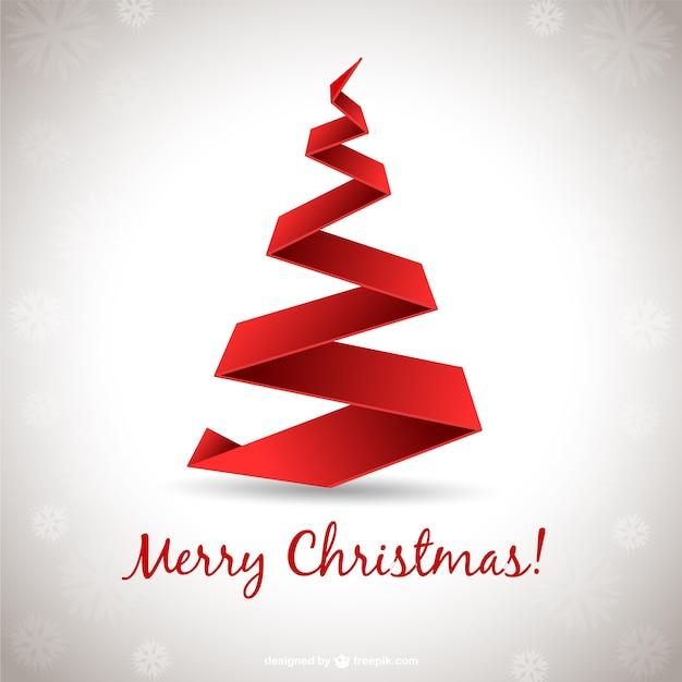 Rbol de navidad con lazo rojo 3d descargar vectores gratis - Lazos para arbol de navidad ...