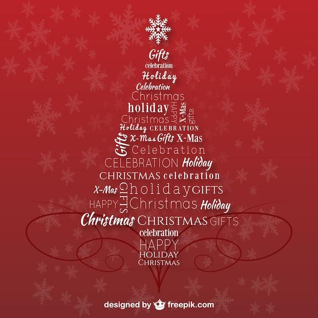 Árbol de navidad con letras | Descargar Vectores gratis