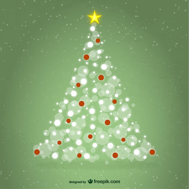 Rbol de navidad con luces blancas y rojas descargar vectores gratis - Luces arbol de navidad ...