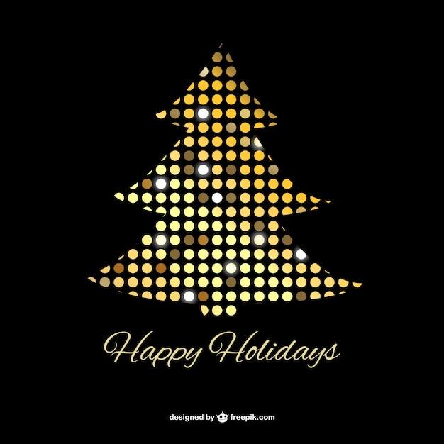 Rbol de navidad con puntos dorados descargar vectores - Arboles de navidad dorados ...