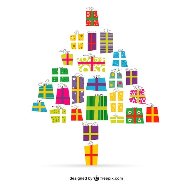 Rbol de navidad con regalos vector descargar vectores - Arbol de navidad con regalos ...