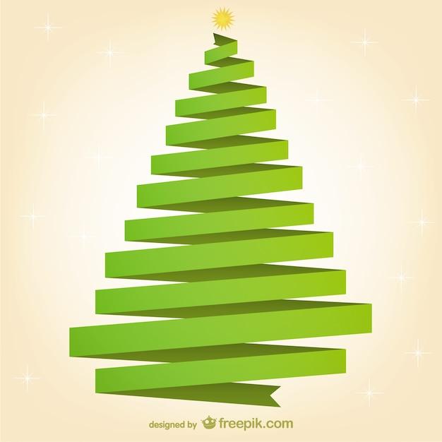 Rbol de navidad de cinta verde descargar vectores gratis - Cintas navidad para arbol ...