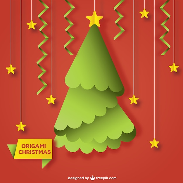 Rbol de navidad de origami con estrellas descargar - Arbol de navidad origami ...