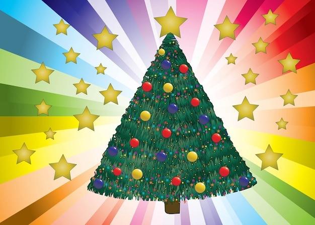 Rbol de navidad decorado vector descargar vectores gratis - Imagenes de arboles de navidad decorados ...
