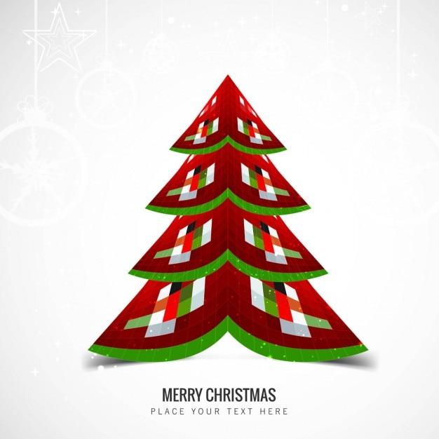 Rbol de navidad geom trico en dise o abstracto - Arbol navidad diseno ...
