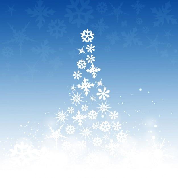 Rbol de navidad hecho con copos de nieve descargar - Arbol navidad nieve ...