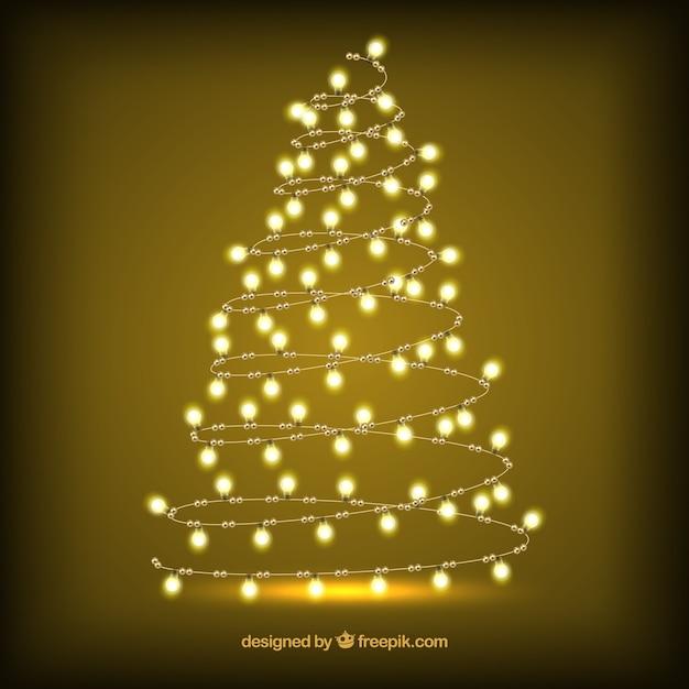 Rbol de navidad hecho de luces brillantes descargar vectores gratis - Luces arbol de navidad ...