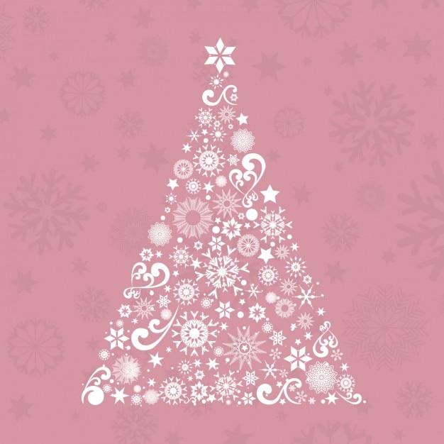 Rbol de navidad ornamental sobre fondo rosa descargar - Arboles de navidad rosa ...