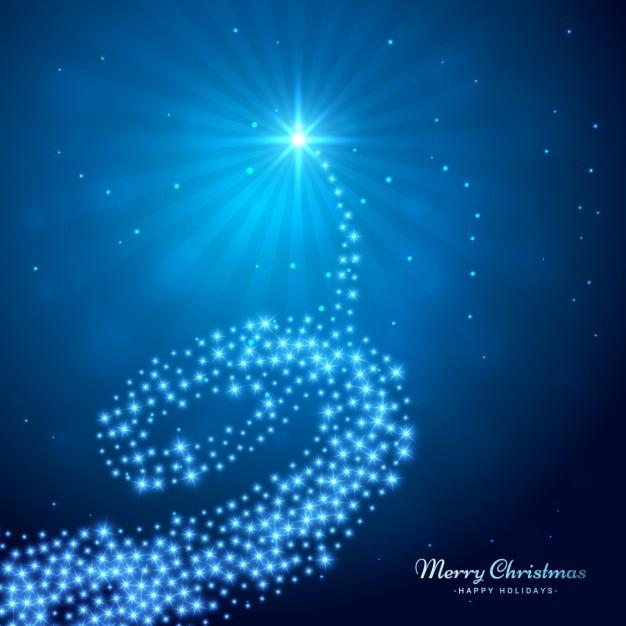rbol de navidad que brilla abstracto vector gratis
