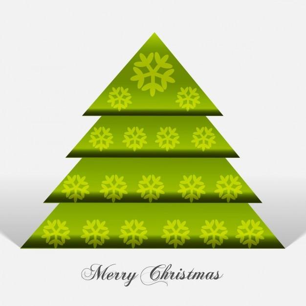 Rbol de navidad verde con copos de nieve descargar - Nieve para arbol de navidad ...