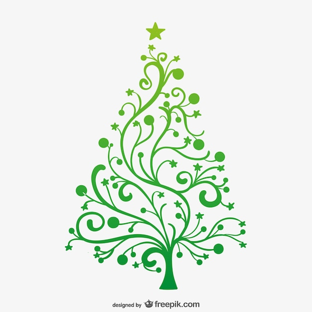 rbol de navidad verde minimalista vector gratis