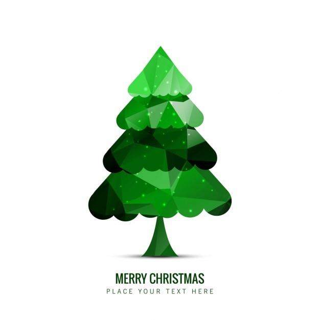 Rbol de navidad verde poligonal descargar vectores gratis for Arbol navidad verde