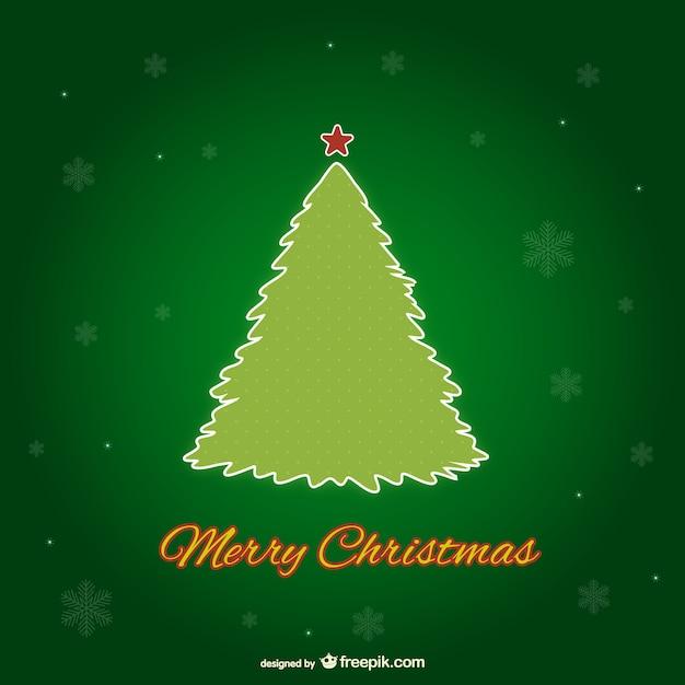 Rbol de navidad verde descargar vectores gratis for Arbol navidad verde