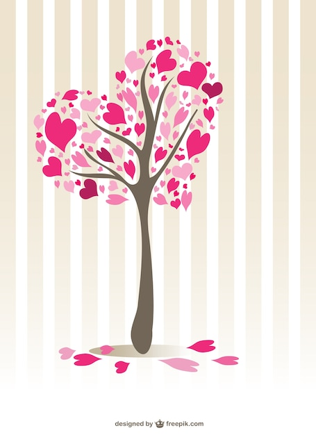 árbol Con Forma De Corazón Descargar Vectores Gratis