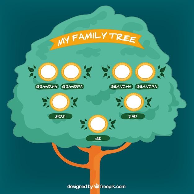 Árbol genealógico dibujado a mano | Descargar Vectores gratis