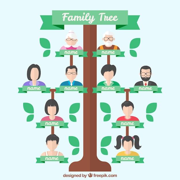 Rbol geneal gico fant stico con generaciones en dise o - Diseno arbol genealogico ...