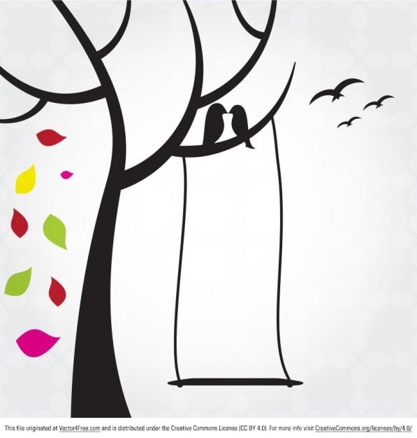 Floral Aves Vector | Fotos y Vectores gratis