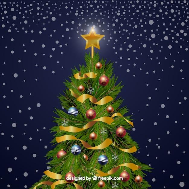 Arbol De Navidad Decorado Con Adornos Descargar Vectores Gratis - Fotos-arbol-navidad-decorados