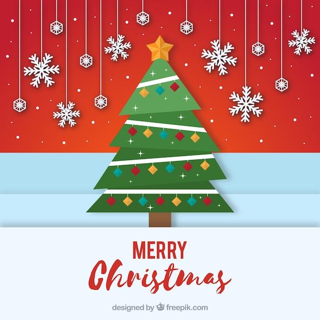 Decorar Arbol Navidad En Papel.Arbol De Navidad Decorado En Estilo De Papel Descargar