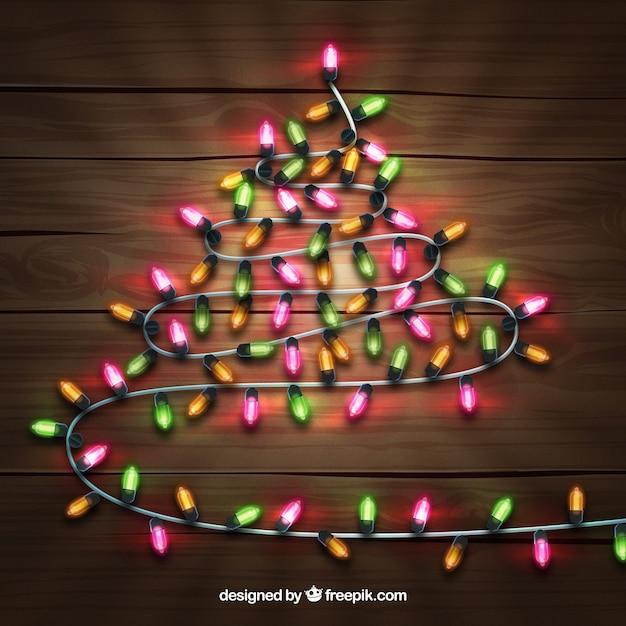 aa9d6566887 Árbol de navidad hecho de luces de navidad