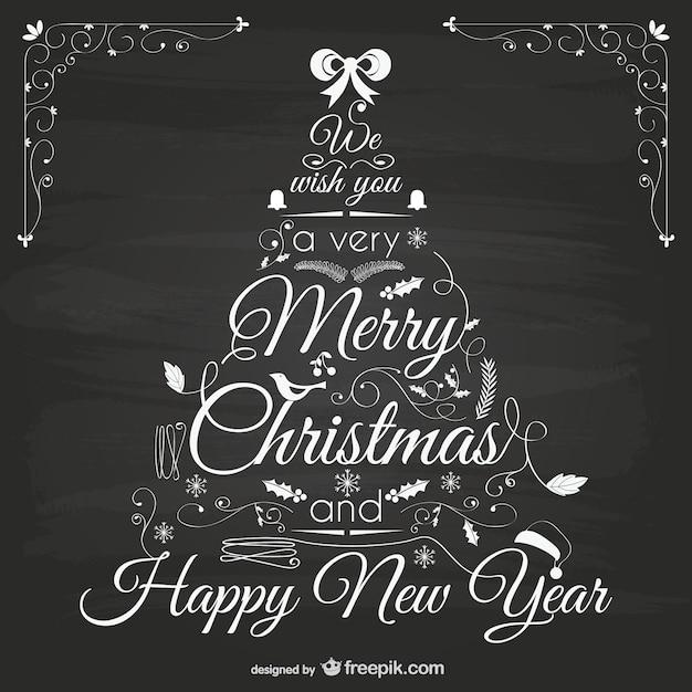 Dibujos De Arboles De Navidad Pintados.Arbol De Navidad Pintado A Mano En Pizarra Descargar