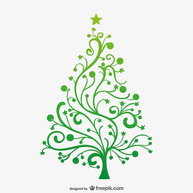 Arbol De Navidad Verde Minimalista Descargar Vectores Gratis