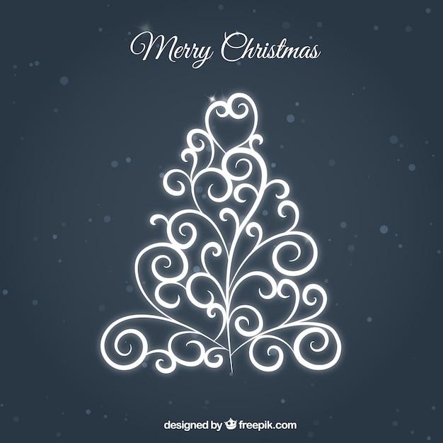 Rbol ornamental de navidad en color blanco descargar - Arbol de navidad en blanco ...