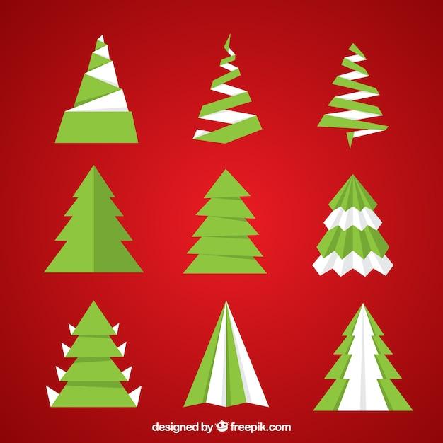 Rboles de navidad abstractos en dise o plano descargar - Diseno de arboles de navidad ...