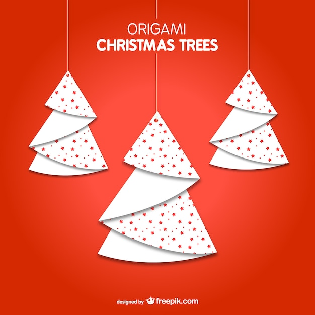 Rboles de navidad estilo origami descargar vectores gratis - Arbol de navidad origami ...