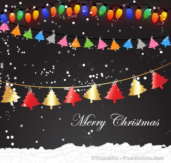 Rboles navidad dise o colorido descargar vectores gratis - Arbol navidad diseno ...