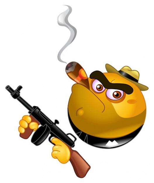 Archivo vectorial Gangster Emoticon Vector Gratis