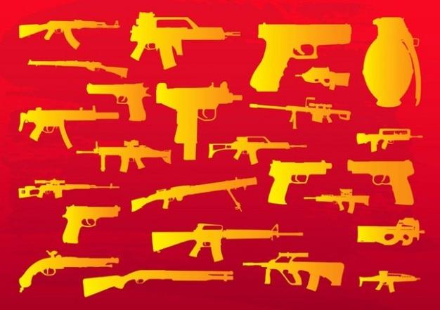 armas de imágenes prediseñadas Vector Gratis