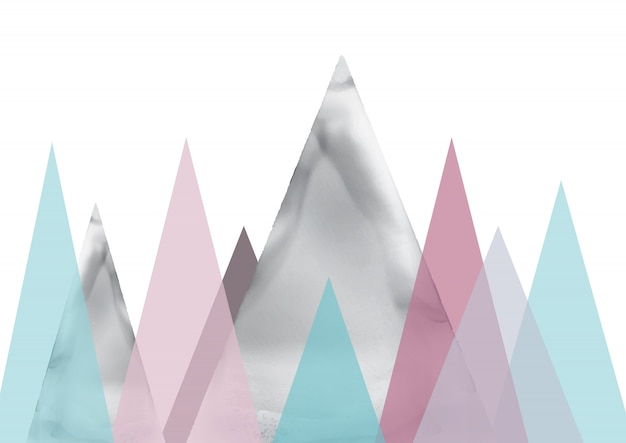 Arte abstracto del paisaje escandinavo vector gratuito