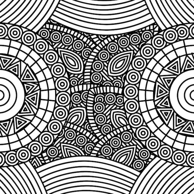 Arte abstracto para colorear adulto | Descargar Vectores Premium