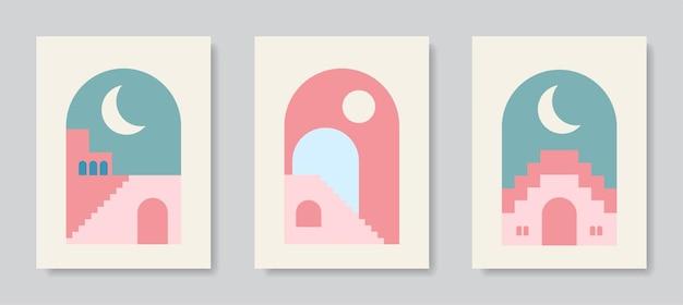 Arte moderno del cartel arte abstracto de la pared arte digital de la decoración de interiores Vector Premium