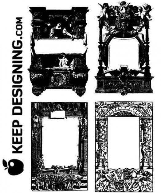 Arte del vector   clipart gratis   marcos antiguos y fronteras ...