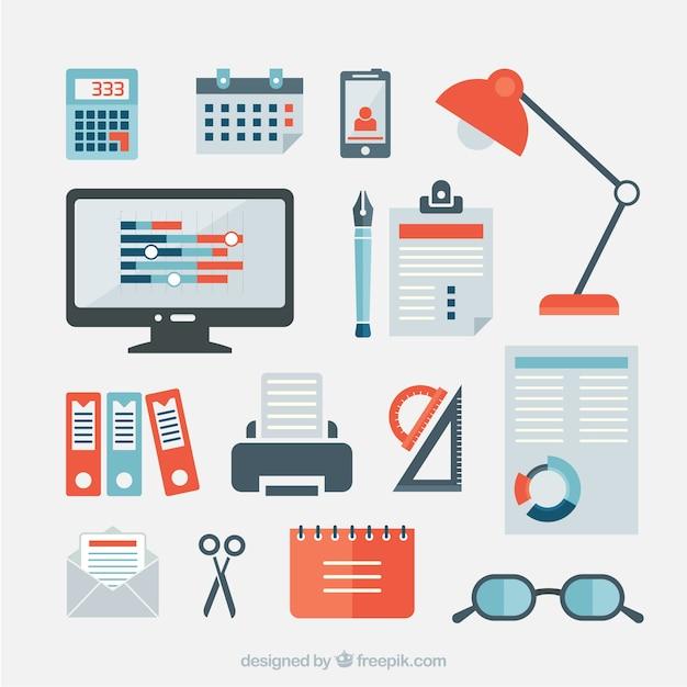 Art culos de oficina de negocios descargar vectores gratis for Accesorios de oficina