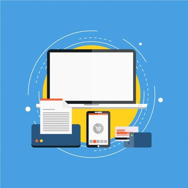 Artículos listos para el comercio electrónico vector gratuito