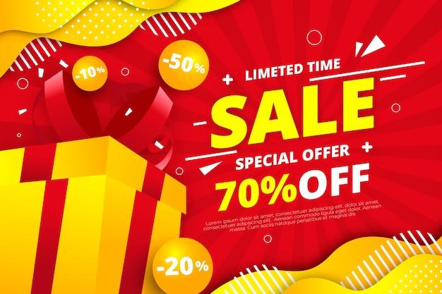 Asbtract colorido concepto de fondo de ventas vector gratuito