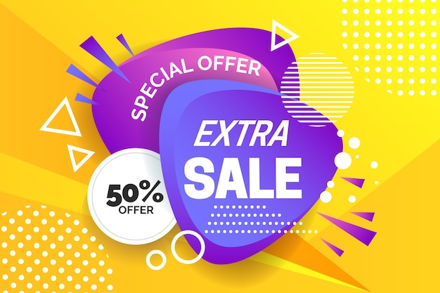 Asbtract colorido fondo de ventas vector gratuito