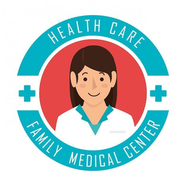 Asistencia médica vector gratuito