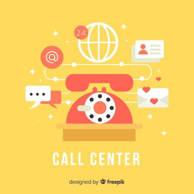 Asistente de centralita ayudando a clientes vector gratuito